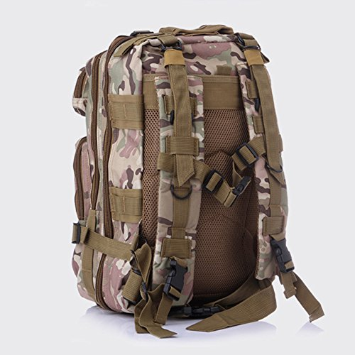 Pizz Annu-Outdoor Tactical Rucksack Sport Camouflage Tasche für Camping Reisen Wandern Trekking CP Camouflage