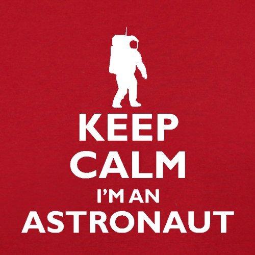 Keep Calm and I'm An Astronaut - Herren T-Shirt - 13 Farben Rot
