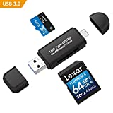 Philonext USB 3.0 Speicherkartenleser, USB Typ C SD/Micro SD Kartenleser OTG Adapter fur Smartphone MacBook und PC Laptop