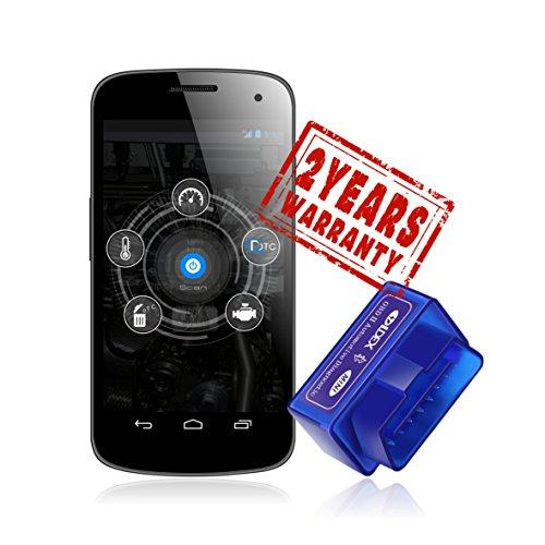 Ldex OBD-II OBD2 Interfaz (Solo para android) para android herramienta de análisis de diagnóstico Bluetooth 2.0