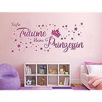 Wandtattoo Süße Träume kleine PrinzessinWandsticker Wand Aufkleber Mädchen