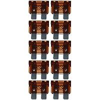 baytronic Standard Flachstecksicherung Kfz-Sicherung (10 Stück 7,5 A braun)