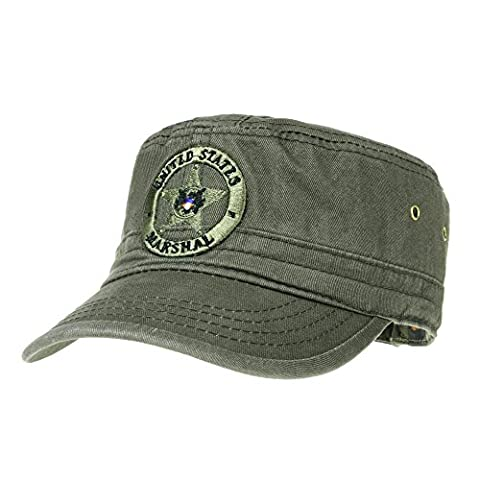 WITHMOONS Militaire Casquette de Baseball Cadet Cap Camouflage Military Star Embroidery Hat LX4292 (Green)