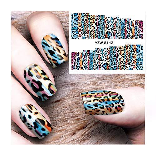 Leopard Design Kleid (HDDWZH Nagelaufkleber,1 Blatt DIY Nagel Wasser Aufkleber Leopard Design Transfer Sticker Nail Art Sticker Tattoo Aufkleber Festliches Kleid Bis)