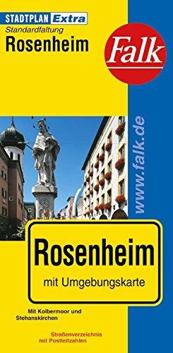 Falk Stadtplan Extra Standardfaltung Rosenheim mit Kolbermoor und Stephanskirchen -