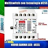 CENTRALINO MULTISWITCH SAT IBRIDO SCR/dCSS/WIDEBAND ART. 80391DH EMMESSE