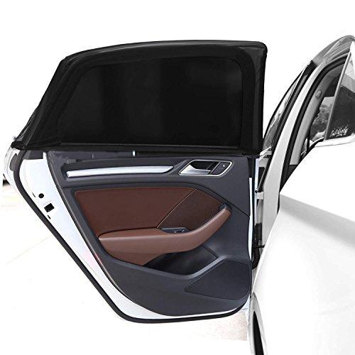 IntiPal Universell Auto Sonnenschutz Kinder Baby UV-Schutz Seitenscheibe Autosonnenschutz(2er Pack)