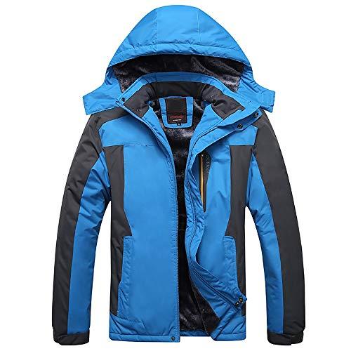 Veste Homme Coupe-vent Veste coupe-vent à capuche pour sports de plein air pour hommes Manteau imperméable imperméable Manteau d'hiver chaud en coton, plus une combinaison d'alpinisme et un manteau d'