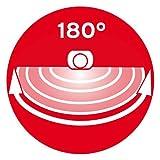 Brennenstuhl LED-Strahler SOL plus / LED-Leuchte für außen mit Bewegungsmelder und Solar-Panel (IP44, inkl. Akku, 8 x 0,5W) Farbe: weiß -