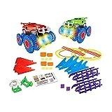 sdfghaWSEfdfghsfgh Monster Stunt Rail Car varietà Track Car Attraverso Tunnel Grotta Giocattolo educativo per Bambini Regalo Modello di Auto