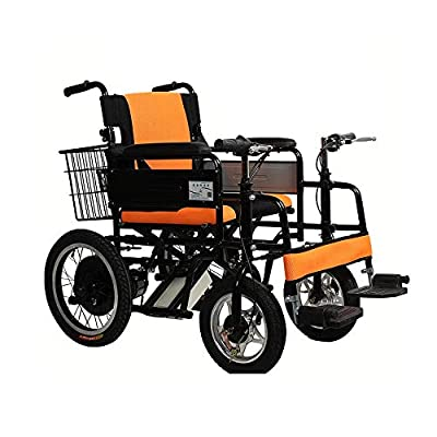GYH Electric Wheelchair, Double Handle Elderly Disabled Electric Wheelchair, Foldable Nursing Scooter, Load Capacity 100kg (#)