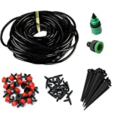 #8: Rrimin 25M Diy Micro Drip Irrigation System Plant Automatic Self Watering Garden Hose Kits With Connector