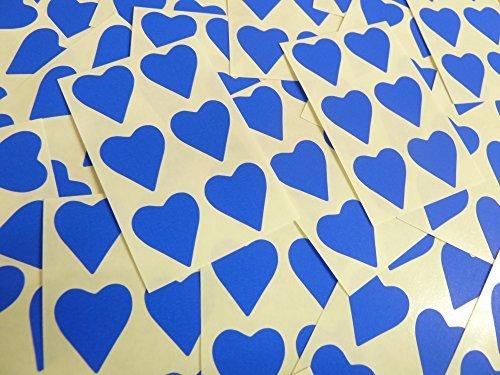 22x20mm Azul Cobalto Con Forma De Corazón Etiquetas, 90 auta-Adhesivo Código De Color Adhesivos, adhesivo Corazones para Manualidades y Decoración