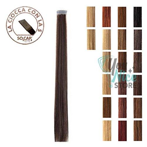 Extension capelli veri ciocche alla cheratina socap 50/55 cm