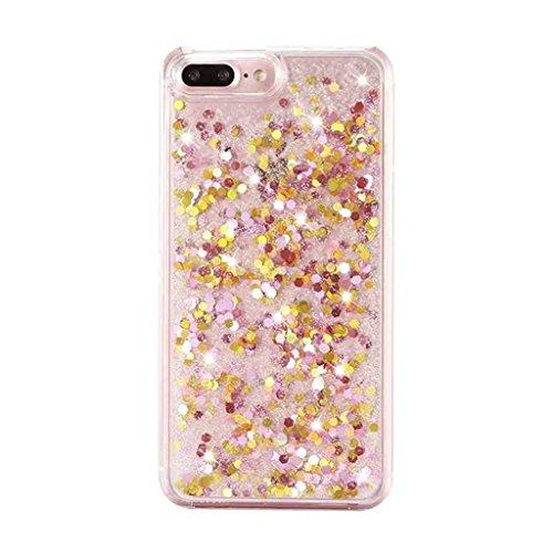 iPhone 6/6S Hülle - 3D Kreatives Design Luxus Shiny Flow Sand Entzückende Fließende Schwimmende Moving Shiny Glitzer Sequins Bling Cute Pattern Shell für iPhone 6/6S - Girl Boss 9-B