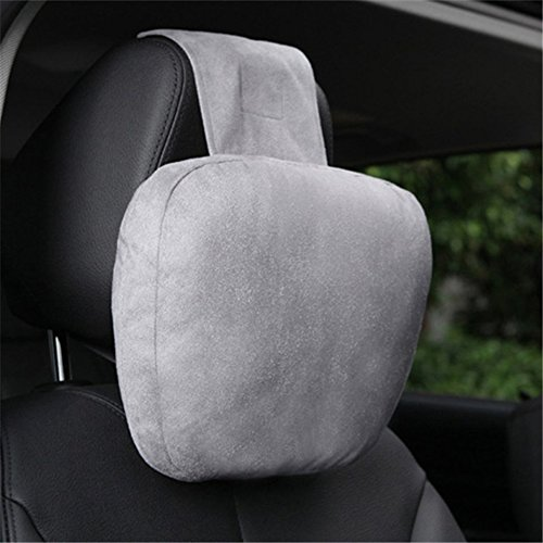 Swiftswan Auto Kopfstütze Kissen Comfy Cervical Kissen Stützkissen Autositz Kissen (Farbe: Grau)