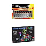 Snap Circuits Lights Electronics Discovery Kit with Energizer Max AA Batteries 16 Pack