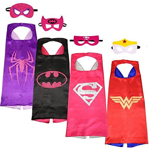 KINDER Cape und Masken/Supergirl/Batgirl Spidergirl Wonder Woman Kostüme Super Hero Kleid bis super-girl bat-girl spider-girl Wonder Woman Kostüme Avengers Super Girl Bat Girl Spider Girl Wonder Woman Fancy Kleid (Die Avengers Girl Kostüme)