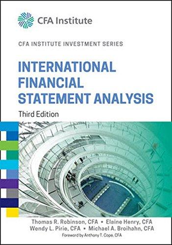 International Financial Statement Analysis, Third Edition (Cfa Institute Investment Series)