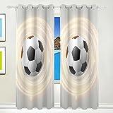 CUMIMI Mumimi calcio stampa termica isolante oscurante oscurante. Finestra tende per soggiorno e camera da letto 139,7cm l x 213,4cm l,2pannelli