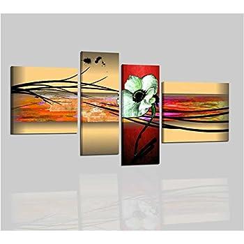 Quadri moderni con fiori per salone salotto soggiorno olio - Dipinti moderni per cucina ...