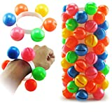 mAjglgE Buntes Kunststoff-Hand-Fußball Rassel Spielzeug Sound Armband Kindergarten Kinder Geschenk - zufällige Farbe