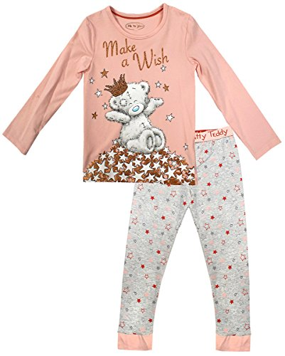 Get Wivvit Girls Pyjamas Official Me to You Tatty Teddy Make a Wish Glitter Sizes from 2 to 16 Years