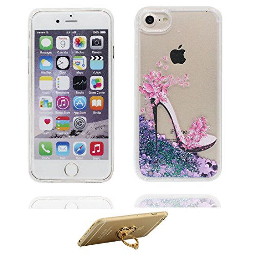 "iPhone 6S Plus Coque, Skin étui iPhone 6 Plus / 6S Plus 5.5"", Multiflora Rose- Design Glitter Bling Sparkles Shinny Flowing iPhone 6 Plus Case 5.5"" résistant aux chocs & ring Support # 2"