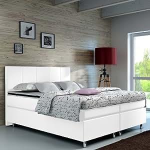 boxspringbett 140x200 hotelbett doppelbett polsterbett ehebett amerikanisches bett modell madrid. Black Bedroom Furniture Sets. Home Design Ideas