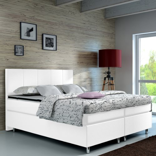 Wohnen-Luxus Boxspringbett 140x200 Hotelbett Doppelbett Polsterbett Ehebett amerikanisches Bett Modell Madrid Typ 1 (140x200)*