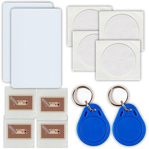 NFC Tag Starterkit 12 NFC Tags - 2 NFC Karten, 2 Schlüsselanhänger, 8 NFC Sticker