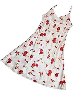 CHUNHUA La signora semplice v-collo di alta qualità 100% pigiama di seta tuta (colore facoltativo) , m , m