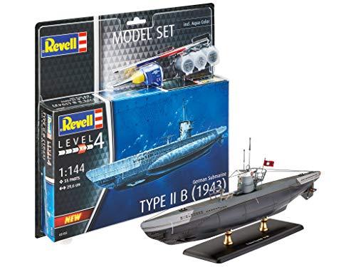 Revell 65155 Model Set German Submarine Type originalgetreuer Modellbausatz für Fortgeschrittene, mit Basis-Zubehör, Mehrfarbig, 1/25 (1 Revell Kits Model 144)