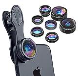 Apexel 7 In 1 Kit obiettivo telefono fotocamera per iPhone iPad Samsung e la maggior parte degli smartphone