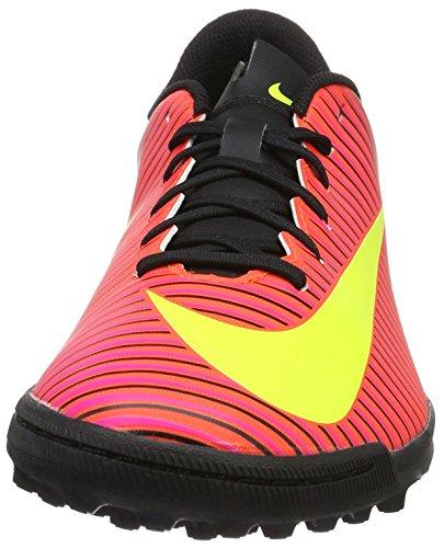 Nike Mercurialx Vortex Iii Tf, Chaussures de Foot Homme Rouge (Total Crimson/Volt-Black-Pink Blast)