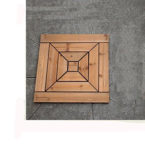 Outdoor wood parkette/diy wood parkette/balkon,terrasse,garten,garten,parkett-A 45x45cm(18x18inch)