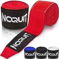 NOQUIT Profi Boxbandagen mit Transportbeutel - 4M Box Bandagen mit Daumenschlaufe - Boxing Bandages für Boxen, Thaiboxen, Kickboxen, MMA & Muay Thai - Kampfsport Bandage für Herren, Frauen & Kinder