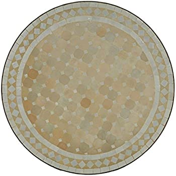 Table Ronde Mosaique Zellige Amazon Fr Jardin
