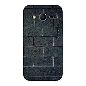 Gorgeous Black Brick Wall Back Case Cover for Galaxy Core Prime