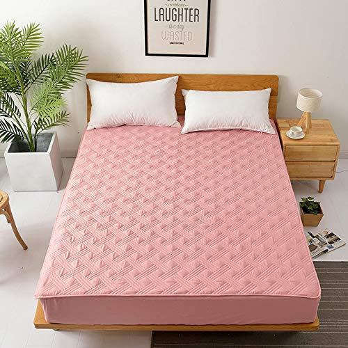 SUYUN Matratzenbezug für Allergiker, Milbenbezug - Matratzenschutz, atmungsaktiv,Bettbezug aus Baumwolle, einteilig, Traum aus Baumwolle Paris - pink 90x200cm