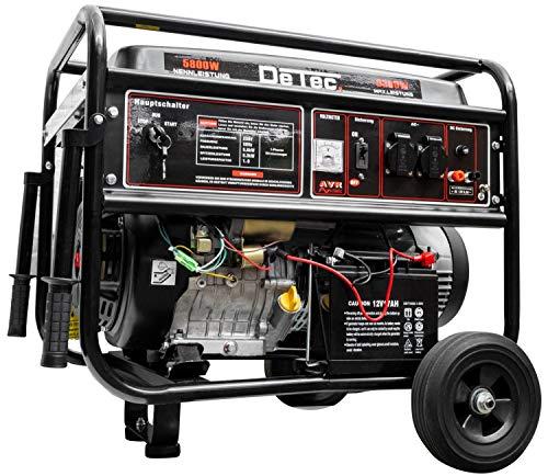 DeTec. Generador de Corriente de Gasolina