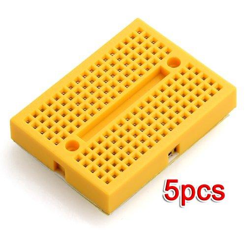 SODIAL(R) ZY-170 5x Breadboard Basette Sperimentali 4,5x3,5cm Giallo Professionali