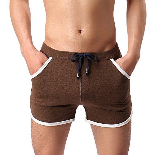 JMETRIC Shorts de Bain Autrichien Gun Hommes Coton Casual Sport Pantalon Fitness Pantalon Plage Pantalon Natation Pantalon Bulle Hot Spring Shorts
