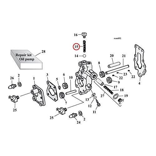 MCS Spring, Öl Pumpe Rückschlagventil–36–55und 66–80B. T..