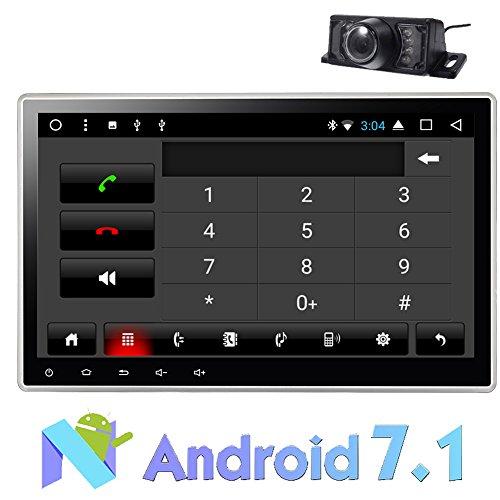 Autoradio-Stereo 10,1-Zoll-Double 2 Din Android 7.1 Dual-Zonen-System GPS-Navigation Auto-DVD-Spieler Head Unit Bluetooth Autoradio HD 1024 * 600 Aufl?sung Bildschirm 2G RAM 16G ROM Wifi USB / SD
