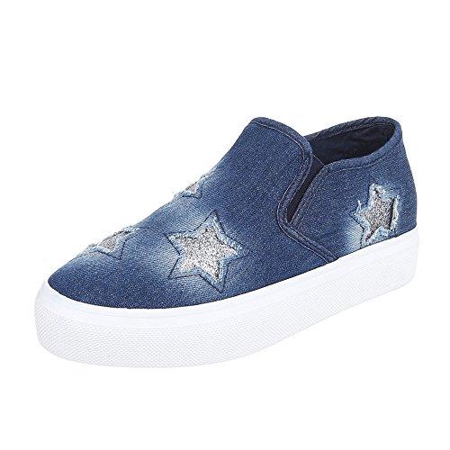 Pantofole Dintérieur Blau y design Donna Ital 339 CqwZ5EH