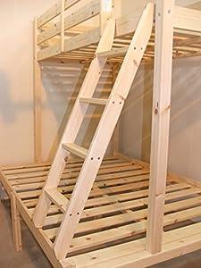 Pine Triple sleeper bunk bed - 4ft 6 double Three sleeper bunkbed