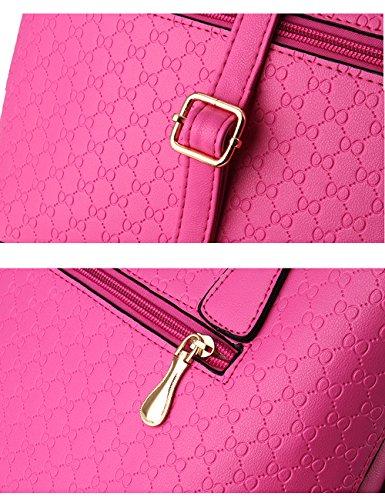Menschwear Leather Tote Bag lucida PU nuove signore borsa a tracolla Blu Rosa