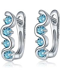 Jewels Galaxy Crystal Elements Luxuria Sparkling Splendid Clip-On Earrings For Women/Girls