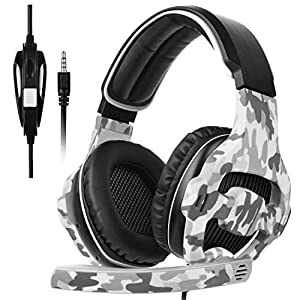 SADES Pro Surround Sound Stereo PC Gaming Headset Kopfhörer mit Mikrofon für PS4 Xbox One PC Mac iPhone Smartphone
